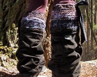 Black  Leg Warmers Unisex Leg Guards