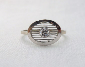 Diamond Vintage Art Deco Upcycled Ring
