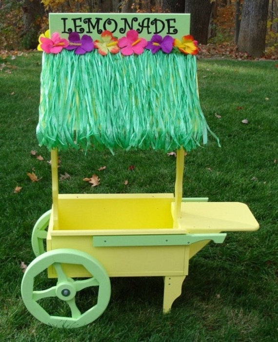 Kids Play Lemonade Stand Unfinished Solid Wood Kit GREAT GIFT