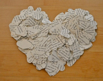Twilight Recycled Book Paper Heart Confetti - 1000 Count