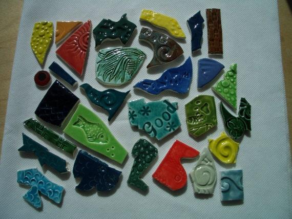 29K - 29-pc Colorful Bits 'n Pieces - Ceramic Mosaic Tiles