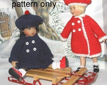 Crochet pattern (PDF) for 7-8 inch child doll Ship Shape for Riley Kish and similar dolls