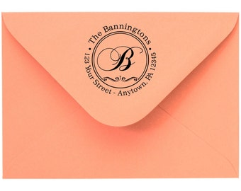 Personalized Self Inking Return Address Stamp - self inking address stamp - Custom Rubber Stamp R65