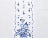 Linen Towel Retro Blue Kitchen