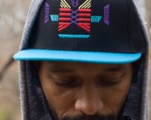 KAWAYO Snapback Hat with Turquoise Brim Cap Caravanserai Collection