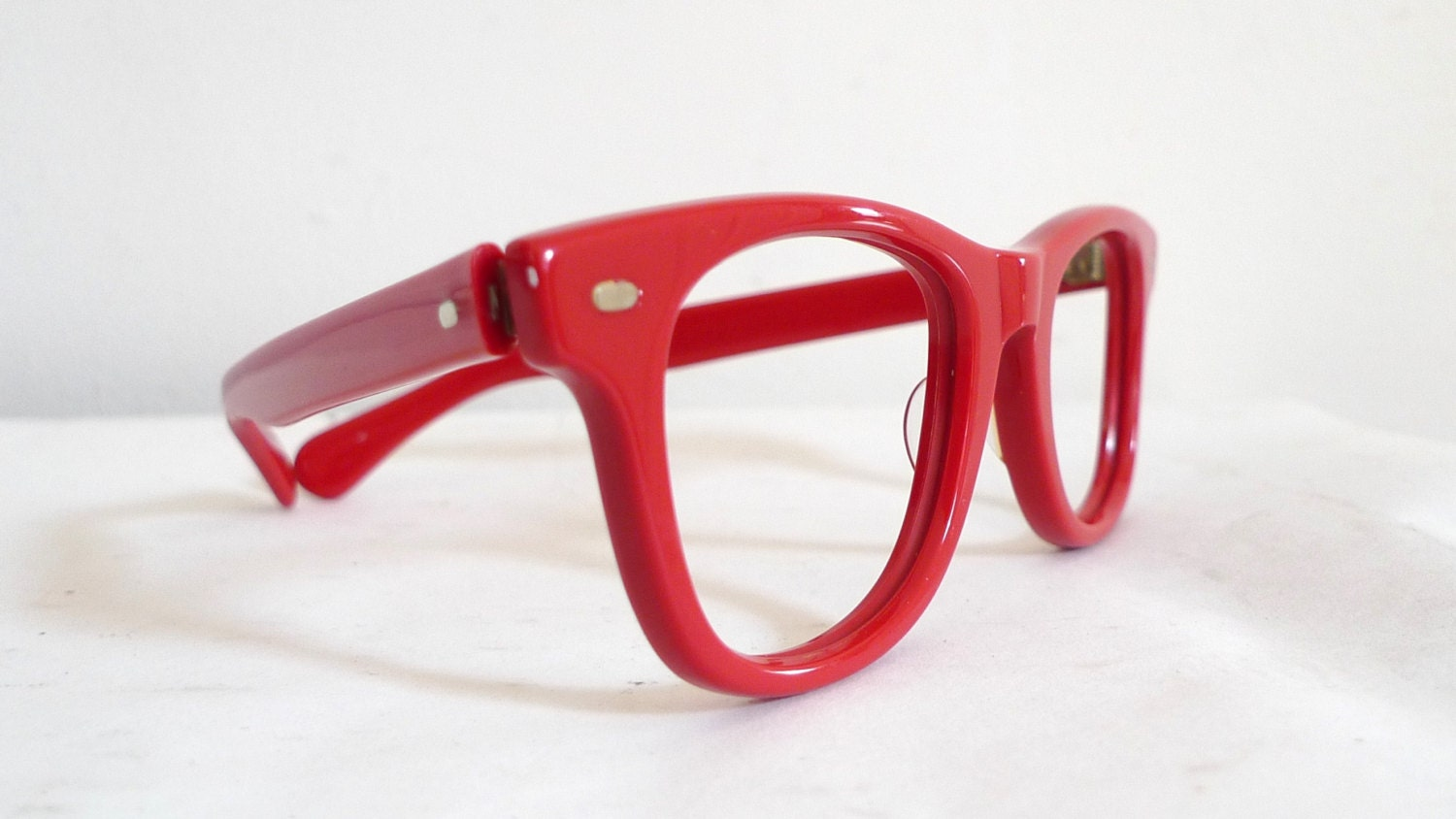 Eyeglass Frames Made In The Usa : True Vintage Red Wayfarer-style USA Eyeglasses or Sunglasses