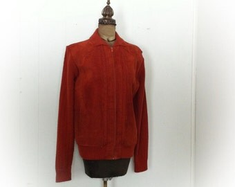 Vintage 1970s or 1980s Suede Jacket Counter Action XL