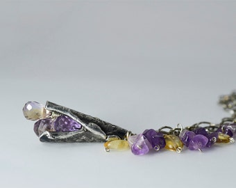 Remnant Necklace in Fine & Sterling Silver, Ametrine