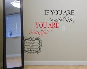 If You Are Confident You Are Beautiful-Vinyl Decal