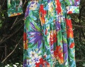lounge or swimsuit cover up LUAU ROBE COTTON party dress in very soft cotton fabric