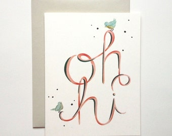 Oh Hi Card (A2 size with matching envelope)