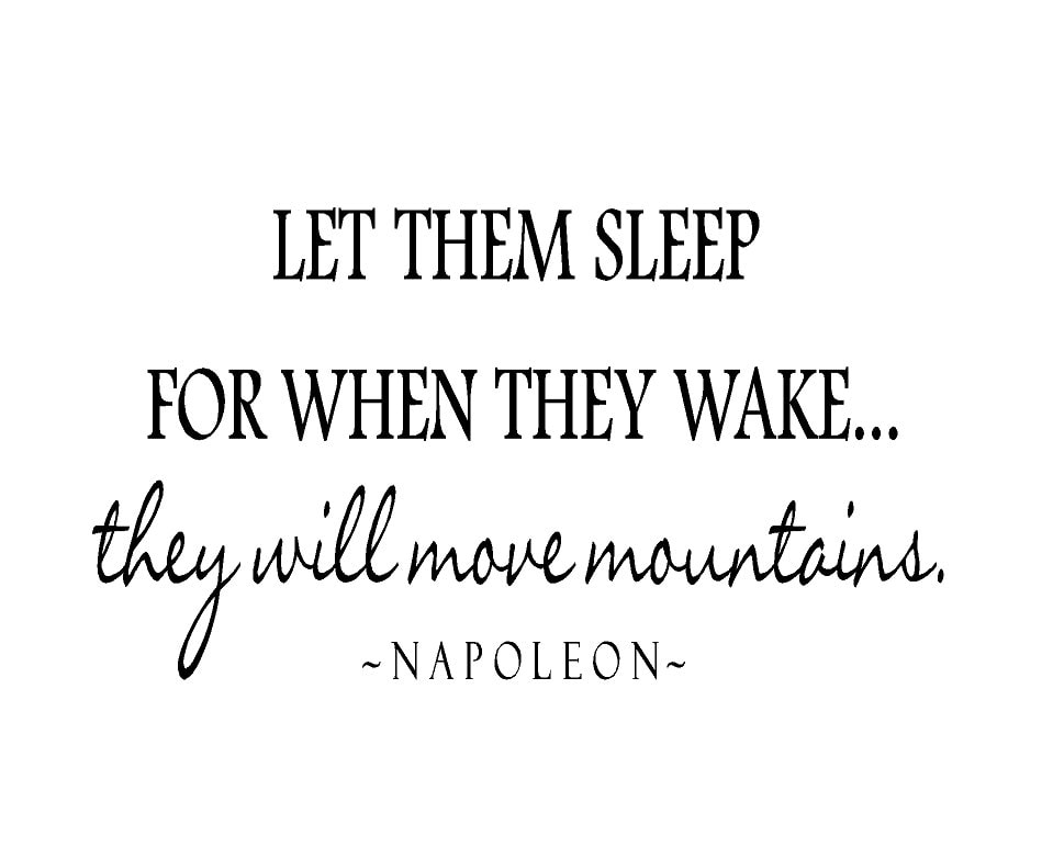 Twin Wall Decal Let Them Sleep For When They Wake They Will