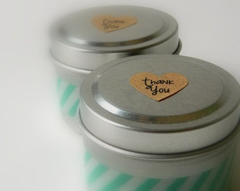 100 Custom Bridal Shower Thank Yous  / Bridal Shower Soy Candle Favors / Wedding Favour /summer wedding