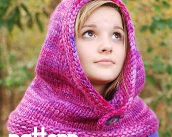 make your own Warmest Hood (DIGITAL KNITTING PATTERN) infant toddler child tween teen adult