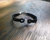 Childs Infinity Bracelet, leather bracelet, washer, infinity, child