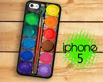 iPhone 5S SE Paint Set iPhone 5S Case | iPhone 5 Watercolor Paint Box 2  For iPhone 5 Plastic or Rubber Trim