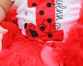 Ladybug Birthday Shirt...Ladybug First Birthday...Ladybug Second Birthday...Ladybug Third Birthday...Girls Ladybug shirt...Personalized
