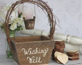 Wedding Guest Book Alternative Rustic Wedding Personalized Wishing Well (Item Number MHD20116)