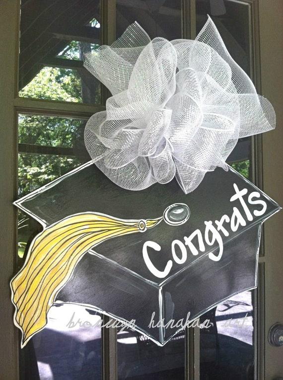 Graduation Cap Door Hanger - Bronwyn Hanahan Art