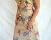 Vintage Plus Size Mod 60's A-line Funky Print Dress