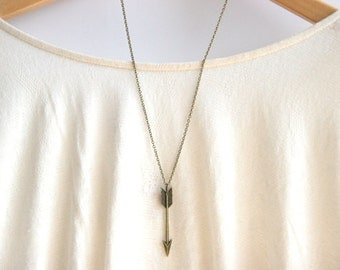 Chevron Arrow Necklace // Arrow Necklace  // Long Boho Necklace // Long Layering Necklace // Katniss necklace