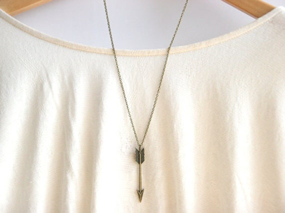 Chevron Arrow Necklace // Tribal Aztec Necklace // Long Arrow Necklace // Long Layering Necklace // Bridesmaid Gifts