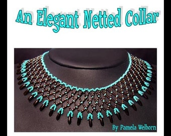 An Elegant Netted Collar Necklace  Tutorial Instant Downloadable Pattern