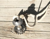 metal bicycle candle holder / gear hub