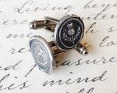 Scottish Thistle Cufflinks - Antique Wax Seal Cufflinks