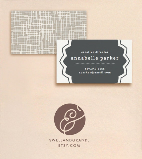 DIY Business Cards Seal INSTANT DOWNLOAD