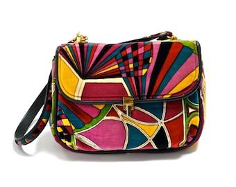 60s Pucci Velvet Handbag - Mod - PSYCHEDELIC