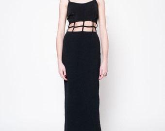 Black Caged Maxi Dress