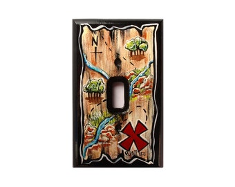Pirate Map SWITCH PLATE COVER