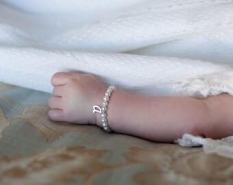Christening Bracelet // Baptism Bracelet // Baby Girl Bracelet // Baptism Girl Gift // Christening Gift for Girl // 1st Communion // Cross
