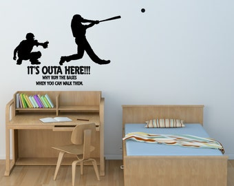 Baseball Wall Decal Sports Quote Sticker Words Boys Room Team