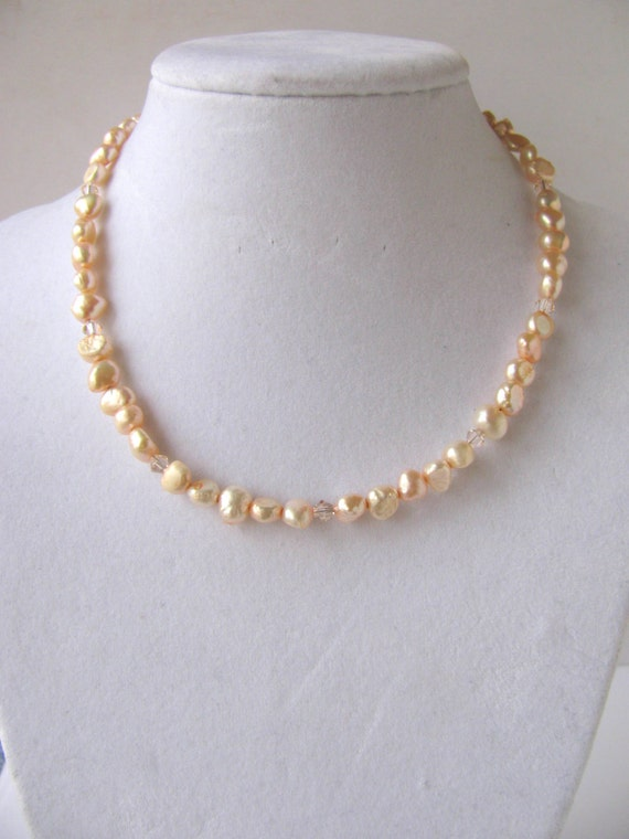 Freshwater Nugget Pearl Necklace You Pick From 4 Colors Free Shipping