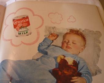 Vintage Ad - - Carnation Milk - - 1950s original ad - Mid Century ad