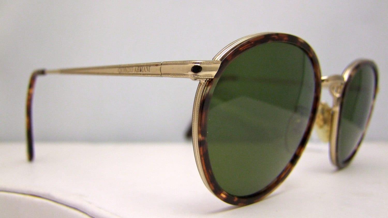 Vintage Armani Glasses Frames : Giorgio Armani Vintage SUNGLASSES Eyeglasses ITALY Round