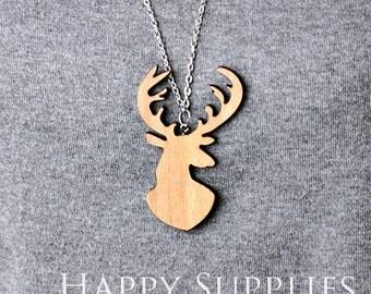 2Pcs Large Handmade Lovely Deer Charms / Pendants (LC002)