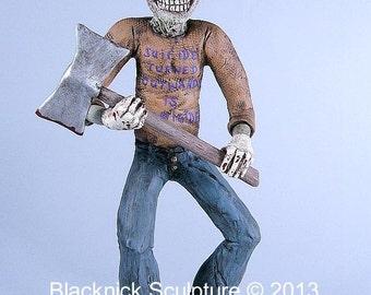 Clown Horror Art Sculpture
