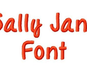 Sally Jane Embroidery Font