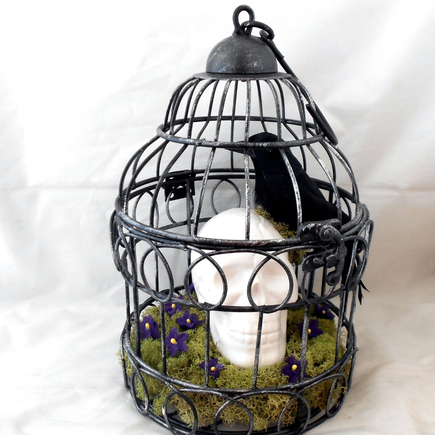 Gothic home decor victorian gothic bird cage reserved for Gothic victorian decor