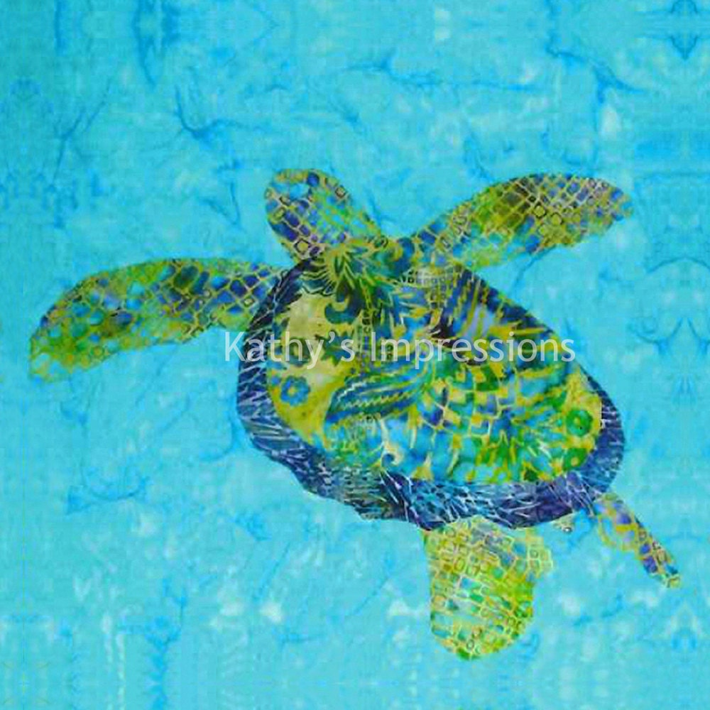 Cool Honu Sea Turtle No Border 6 5 Organic Cotton