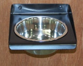Items Similar To Dog Feeder Single Bowl 1 Quart Wall Mount