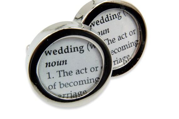 Wedding Cufflinks - Definition of  WEDDING - Cuff links by Gwen DELICIOUS Jewelry Design