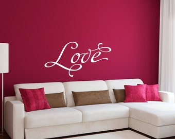 Love Wall Decal - Love Quote Decal - Wall Quote Decal - Large