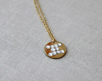 Gemini Necklace, Personalized Zodiac Necklace, May June Birthday, Swarovski Crystal, Gold Filled, Astrological