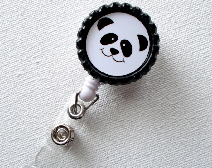 Panda - Retractable Nursing Badge Reels - Nurses Badge Holder - Animal ID Badge Reel - Nurse - Preschool Teacher Badge