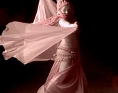 Wall art home decor artistic nude belly dancer with veil color fine art photo print - Dancing in the dark - Infrared - 06
