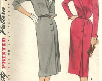 Simplicity 1353 Vintage 50s sewing Pattern Dress Size 14